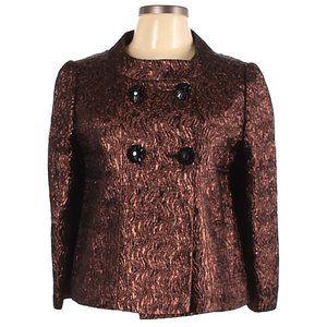 Frascara Jacket Size 8 Metallic Dressy Crop Button